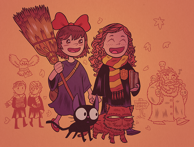 Witches in Training ... Dan Hipp in Hogwarts