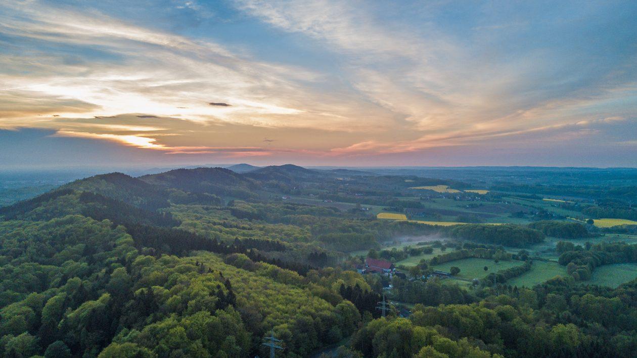 Blick über den Teutoburger Wald Richtung Halle und Werther