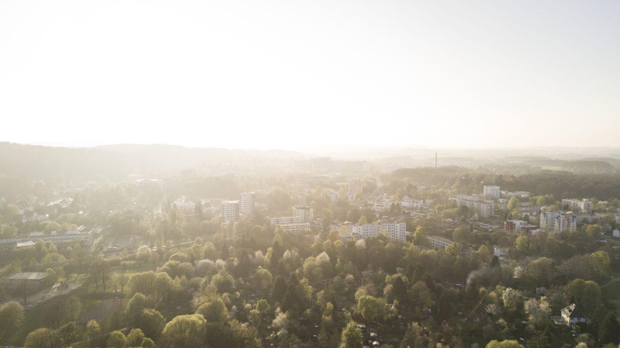 Blick über den Westen von Bielefeld